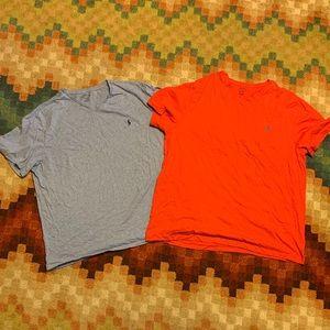 EUC Ralph Lauren Polo T-shirt Lot Blue & Pink XXL